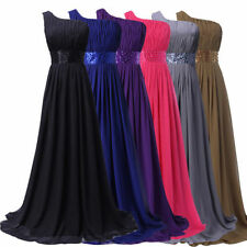 FREE SHIP~ Long Prom Evening Dresses Bridesmaid Ball Gown Wedding Party Dress 8+