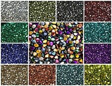 CHOOSE COLOR! 50pcs Pinch Beads 5x3.5mm, Czech Pressed Glass, METALLIC COLORS