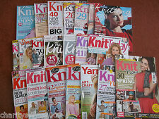 knitting magazine, lets knit magazine & simply knitting mag - choice of issues