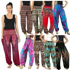 Thai Flowy Comfy Yoga Beach Baggy Boho Gypsy Hippie Women Harem Pants Trousers