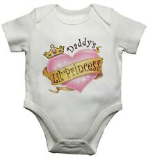 Daddys Little Princess Funny Personalised Baby Vest Newborn Gift Bodysuit/Grow