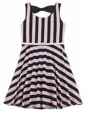 NWT! Girls sz 5 or 8 JUSTICE DRESS Spring Summer Easter Wedding pink stripe New