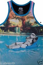Star Wars 'Stormtrooper Pool Party' Men's Tank Top T-Shirt {Size: S-2XL} LIMITED
