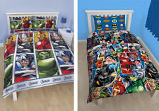 Kids Comic Book Duvet Sets Single Pillow Avengers DC Comics Bedroom Superman