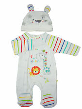 Baby Boy Girl Unisex Clothing Sleepsuit and Hat Set Lion Giraffe All in One  New