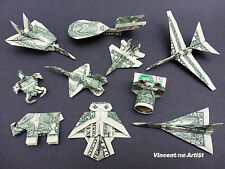 Beautiful Money Origami Art Pieces - MANY DESIGNS! Made of Real Dollar Bills v.3