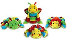 Genuine Keel Toys Snug as a Bug Squeaky Caterpillar, Ladybird, Butterfly,Spider