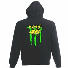 VALENTINO ROSSI `ROSSI ENERGY`MOTO GP Graphite hoodie small to xxl sizes UNIQUE