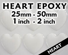 Heart Epoxy Stickers - Transparent or Glitter - Various Sizes - Free Shipping
