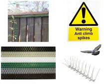 Anti Climb Spikes - Fence Wall Security Spikes - Cat Repellent Prickle Strips