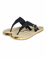 New Women Qupid Canyon-01 Leatherette Espadrille Buckle Thong Slipper Sandal