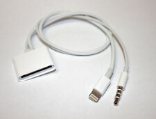 8 Pin Lightning 3.5mm to 30 Pin Audio Adapter Cable For Bose Sounddock iPhone 6