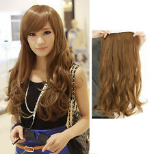 Width 25cm Lady Sexy Stylish Long Curl Wavy Clip-on Hair Extension