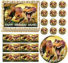 DINOSAURS Theme Party Edible Cake Topper Frosting Sheet Image - All Sizes!