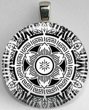 Handmade Interchangeable Magnetic Black and White Patterns #27 Pendant Necklace
