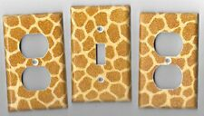 Giraffe Print Light Switch Cover and Electrical Outlet Plates