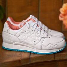 """ASICS GEL-LYTE III WHITE/WHITE """"MIAMI VICE PACK"""" """"LUX GATOR"""" LIMITED EDITION"""