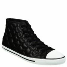 544939F Converse Womens Chuck Taylor All Star Dainty Quilted Nylon Mid Leather