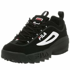 NEW MEN FILA DISRUPTOR II FBS/SYN SHOES BLACK WHITE RED FW01653018