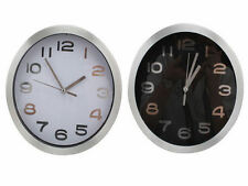 20cm Wall Clock Simple Modern Design White On Black Or Black on White