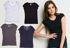 Bella LADIES CARMIN VINTAGE T-SHIRT FITTED BODICE TOP New Size S-L (B-8402)