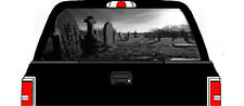 Cemetery grave headstone bad ass rear window graphic decal sticker car truck