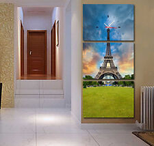 Beautiful Eiffel tower park large Wall Decorative Canvas Print Set Framed