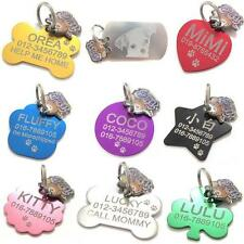 HAPPY PET TAG ID PERSONALIZED CUSTOM DOUBLE SIDED FREE ENGRAVING DOG CAT ID TAGS
