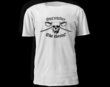 Surrender The Booty Skull Pirate Adult T-shirt Graphic Tee Size S - 5XL Shirt