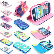PU Leather Magnetic Flip Pattern Stand Wallet Case Cover For New iPhone Samsung