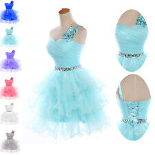 MINI Girls Bridesmaid Evening Party Masquerade Gowns Homecoming Short Prom Dress