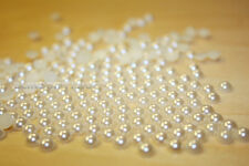 Wholesale  Flat Back Pearl Colour Ivory  Rhinestone gems Decoration Craft Pearls