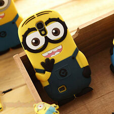 3D Despicable Me Minion Silicone Back Case Cover for Samsung Galaxy/Apple iPhone
