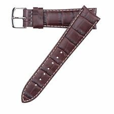 Hadley-Roma Men's Matte Stitched Alligator Grain Watch Band Strap 21mm MS834