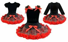 Rockstar Leopard Red Tutu Pettiskirt Outfit Pageant Birthday Party *NWT* 1-10Y