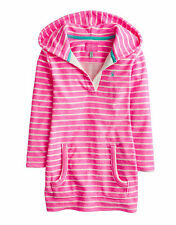 *BNWT* Joules Jnr Shellseeker Towelling Cover Up - Neon Pink Stripe - NEW SS15