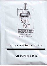 Wine Making Yeast - Home Brew Yeast  50L - 10g sachet - Multipack - 6 TYPES