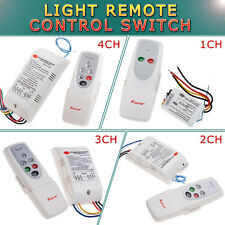 110V Wireless 1 2 3 4 Ways ON/OFF Digital Remote Control Switch For All Lights