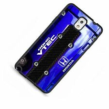 JDM Honda DOHC Vtec Engine Blue Gloss Fitted Case for Galaxy S3 S4 S5 Note 4 3 2