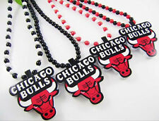 New Hip-Hop Fashion BULLS Pendants Wood Rosary Bead Necklaces Good Quality 36""