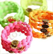 Korean peach heart gold buckle rubber band rope hair accessories best price