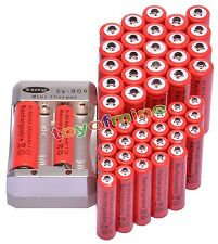 24 AA 3000mAh +24 AAA 1800mAh 1.2V Ni-MH Rechargeable Battery For RC Red+Charger