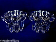 Vintage Set of 2 Berwick/Boopie/Candlewick Glass Votives/Candle Holders