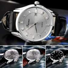 Luxury Men Analog Quartz Alarm Auto Day & Date Sport Classic Leather Wrist Watch