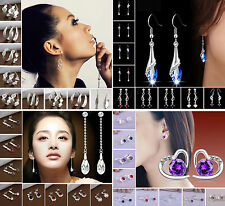 Wholesale 925 Sterling Silver SP Jewelry Dangle Stud Earrings