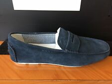 ARMANI JEANS - SUEDE LOAFER In Navy
