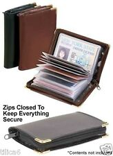 Deluxe leather Credit Card Holder Room for 34 Business or Credit Cards