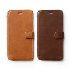 Zenus Vintage Diary Genuine Nubuck Leather Cover Case for iPhone 6 Plus 5.5""
