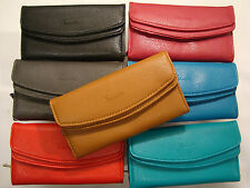 Ladies Purse Wallet with Double Flap Large Coin Pocket Soft Pu