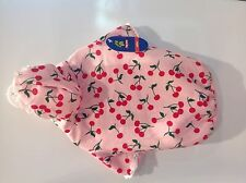XS S M New Top Paw Pink Cherry hooded ruffled Dog Pet Clothes Shirt apparel